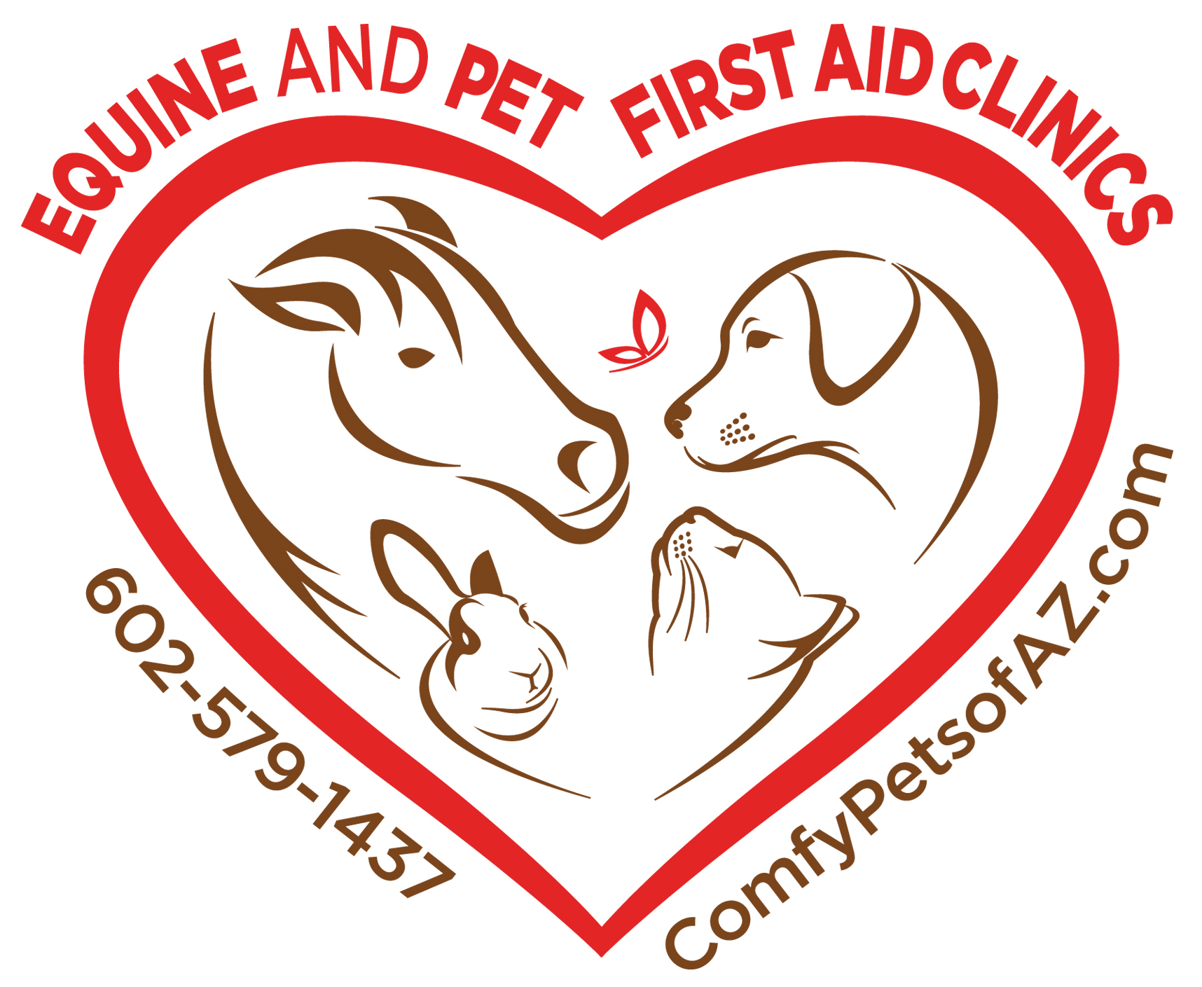 Equine-Pet ComfyPets-logo red-brown